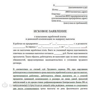 Заявление Работодателю О Выплате Задолженности По Заработной Плате Образец - фото 7