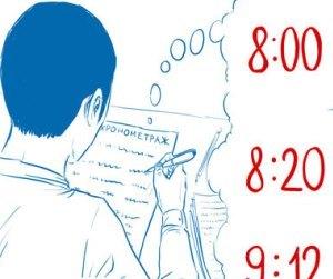 Образец приказа о хронометраже