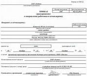 Форма приказа о смене фамилии директора